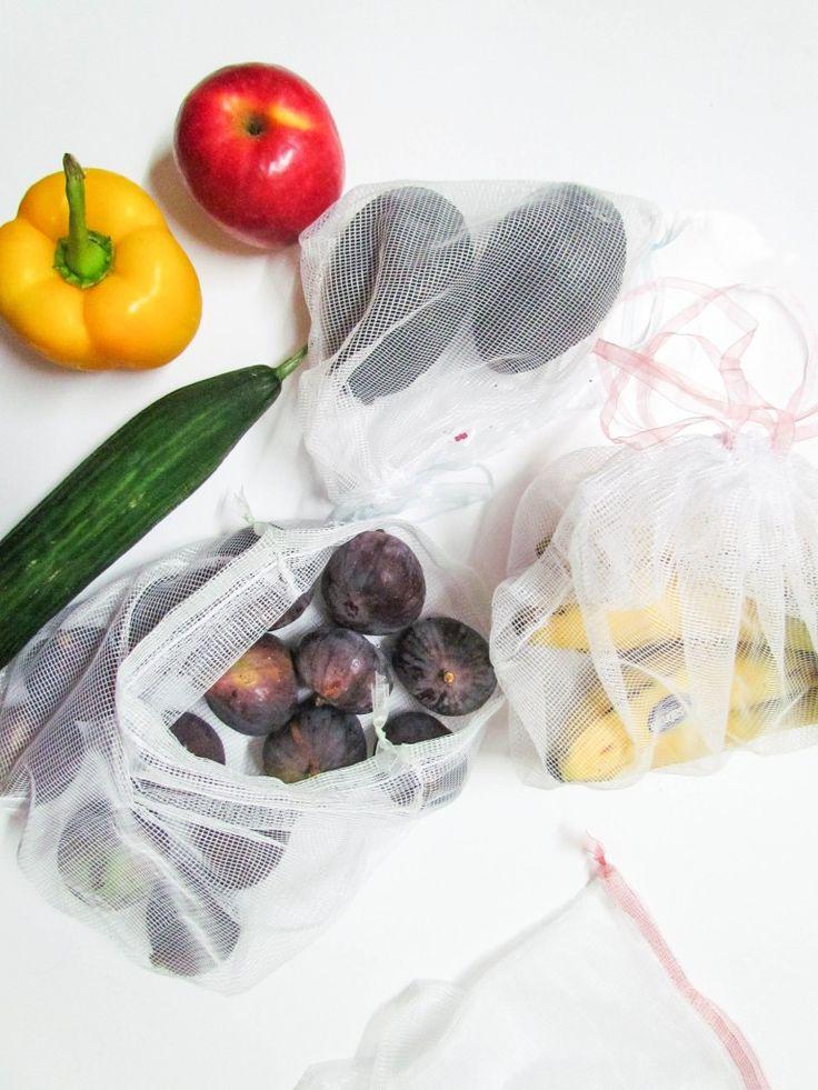 Tissu ajouré pour fruits et légumes pour remplacer les Kraft réutilisables mais non lavables!
