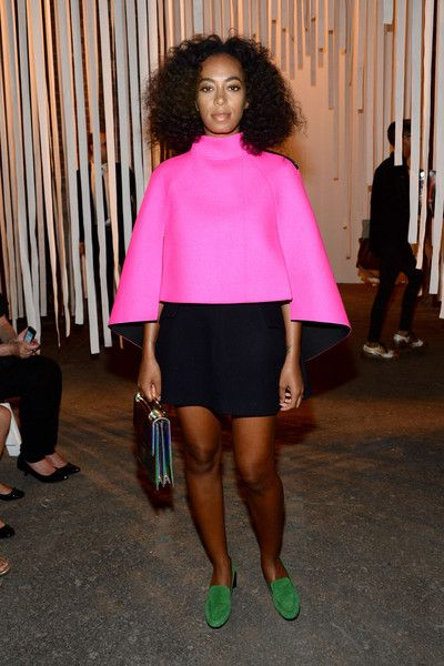 Solange Knowles Photos Photos - Solange Knowles attends the Milly By Michelle Smith Fashion Show during Spring 2016 New York Fashion Week at Art Beam on September 15, 2015 in New York City. - Milly By Michelle Smith - Front Row - Spring 2016 New York Fashion Week