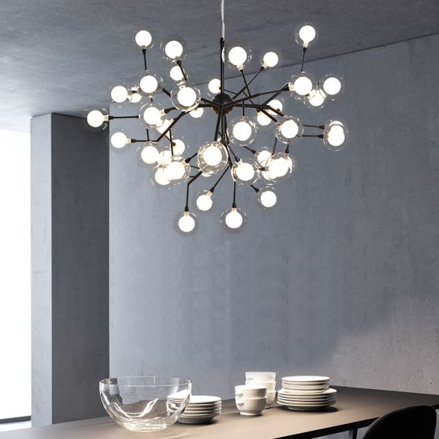 Black Gold Firefly Beans Pendant Heracleum Ii Chandelier Reproduction With 12 27 36 45 54 63 72 Lights Chandel Chandelier Bedroom Lamps Design Chandelier Decor