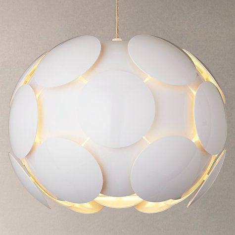Buy John Lewis Atom Pendant Light Gloss White Online at johnlewis.com & 35 best Lighting images on Pinterest | Ceiling lights Ceiling ... azcodes.com