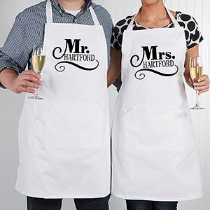 Create lasting Wedding memories with the Happy Couple Personalized Apron. Find the best personalized wedding gifts at PersonalizationMall.com