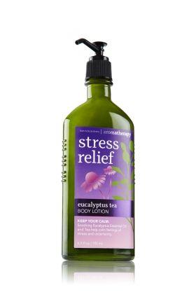 Stress Relief - Eucalyptus Tea Body Lotion - Aromatherapy - Bath & Body Works...I love the Eucalyptus Tea!