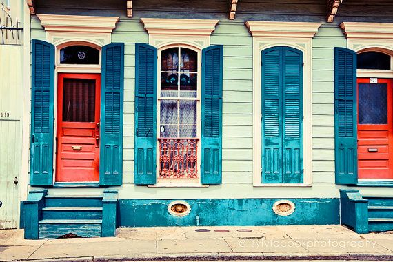 New Orleans Photograph turquoise shutters by VintageChicImages, $30.00