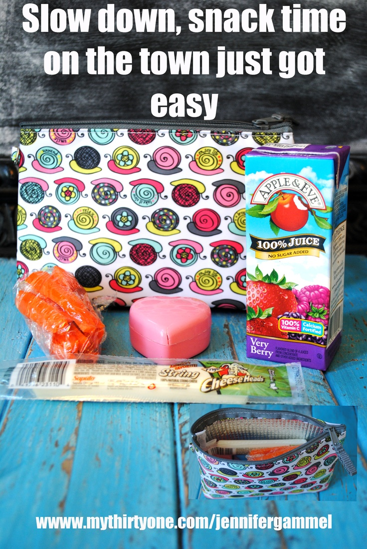 The thermal mini zipper pouch is perfect for snack time! Freeze the juice box and it will stay for cold for hours, add a hot pack for a hot treat at lunch. This is also fantastic for keeping electronics, makeup or medications cool.