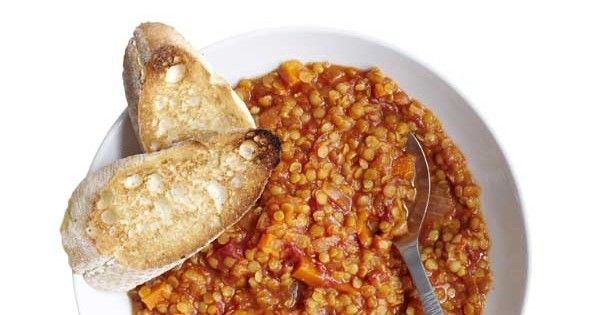 The best lentil stew is lightly spiced and satisfying for all the family. This one, made with split red peas is quick and easy, good value and healthy. This vegetarian recipe works as a main meal or as part of an Indian feast. Leftovers would make a simple lunch. Whenever you eat it, crusty bread on the side is all you need to serve it with.