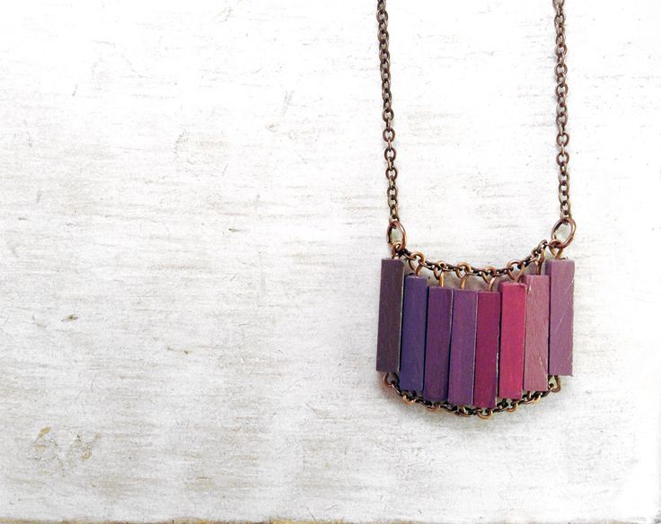 Wood Geometric Necklace // LOVERS IN JAPAN // Boho-Chic Jewelry // Hand-Painted Necklace // Minimal Jewelry // Modern Necklaces by Valentinolandia on Etsy https://www.etsy.com/listing/169238630/wood-geometric-necklace-lovers-in-japan