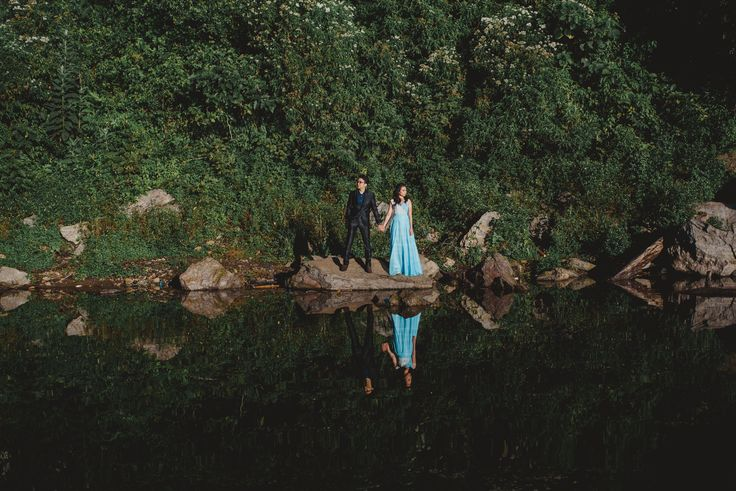 Misty Lake pre wedding in Bali Photo by Terralogical ( terralogical.com ) #bali #engagementportrait #engagement #bridestory