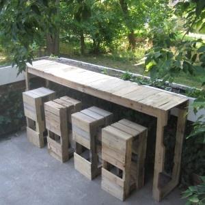 pallet bar for backyard use
