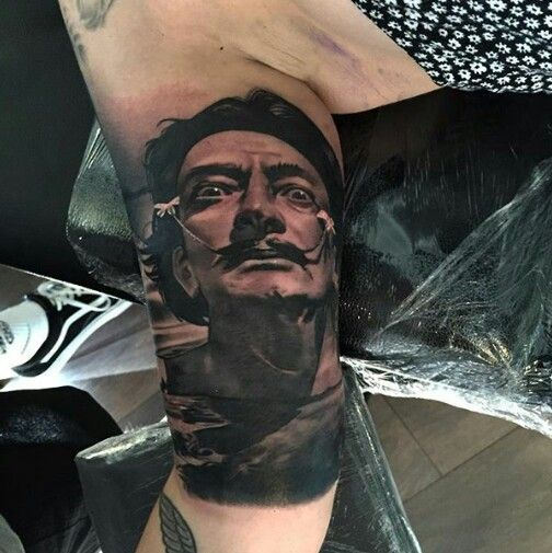 Salvador Dalí tattoo