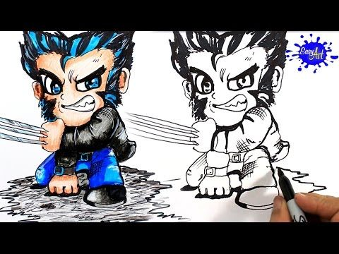 How to Draw wolverine Step by Step / Como Dibujar awolverine  paso a paso / Easy art YouTube