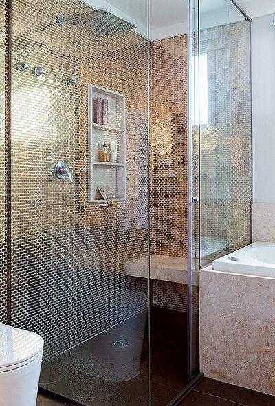 Photo Gallery For Photographers Banheiros decorados pastilhas lindas ideias Master BathroomComfort RoomToiletsGold