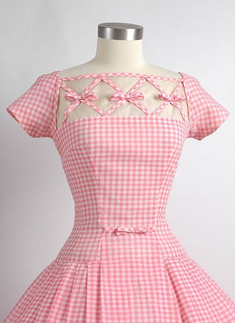 Vestido xadrez rosa