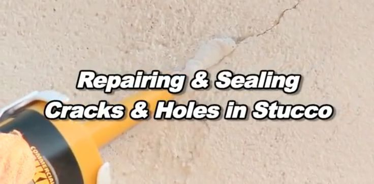 How to easily repair cracks and holes in stucco with video - How to repair stucco exterior wall ...