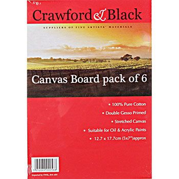 Canvas Boards 5 x 7 inches - Pack Of 6 | Best Selling Arts & Crafts at The Works