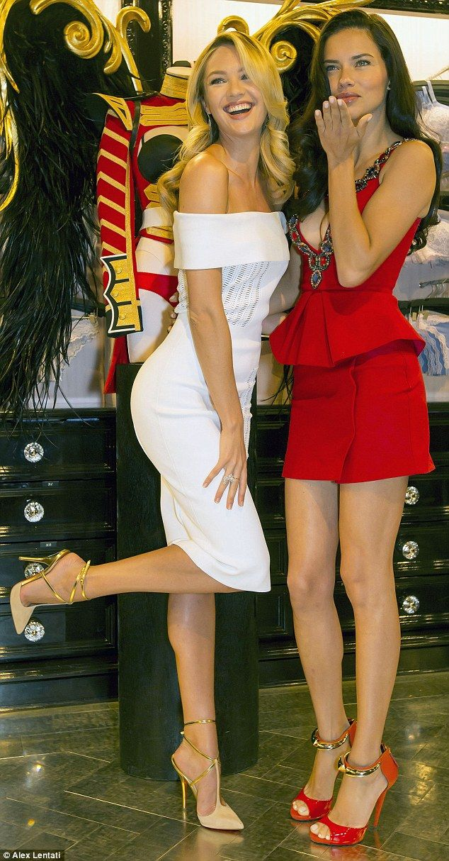 Candice called fellow Victoria's Secret Angel Adriana Lima the 'queen of boxing,' right, and said she wouldn't want to face her in the ring