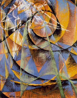 Giacomo Balla: Mercury Passing Before the Sun, 1914
