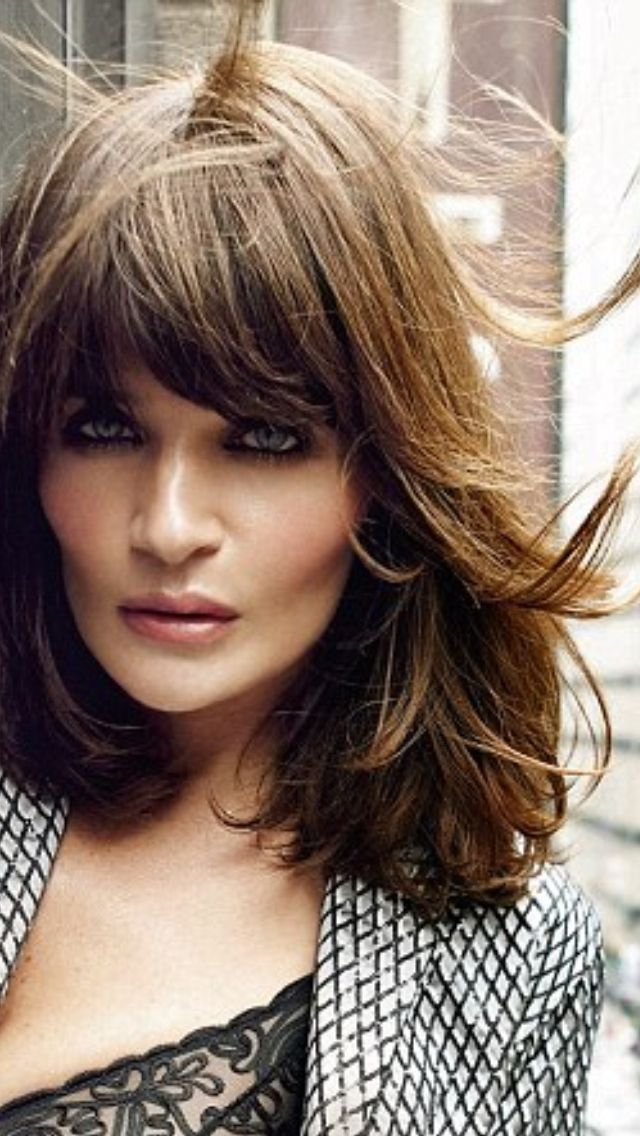 Helena Christensen choppy layers to thicken