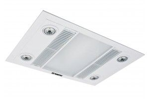 Martec Linear 3-in-1 Bathroom Heater & Ultra-High Extraction Exhaust Fan White Finish