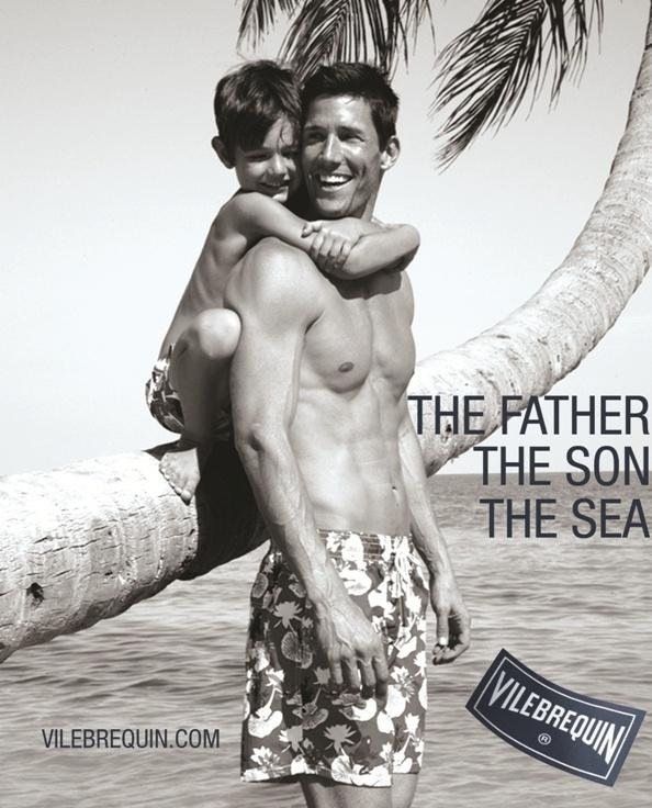 Vilebrequin; distinctive, high-end French men's swimwear brand.