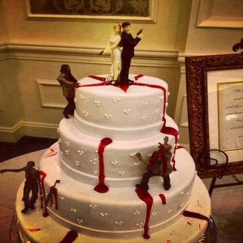 Awesome Zombie Wedding Cake! I think Edgar would like this one. lol.