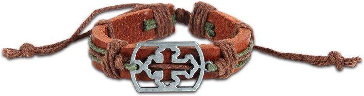 Sideways Cross Guy's Bracelet