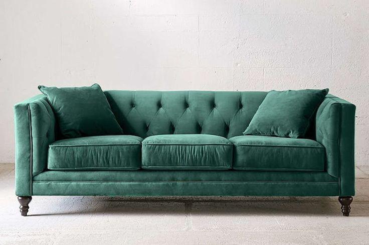 17 Best Ideas About Green Sofa On Pinterest