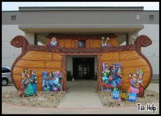 decoração de igreja com o tema a arca de noé