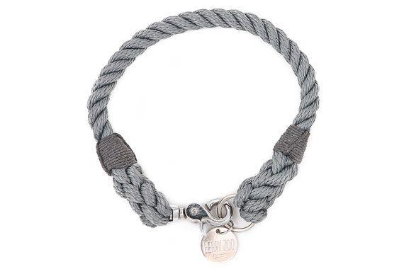 Grau silber M/L Classic Halsband 12mm – für mittlere und große Hunde