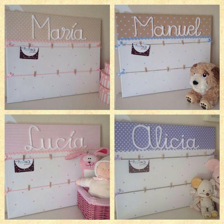 Lienzos personalizados para las fotos de nuestros bebés