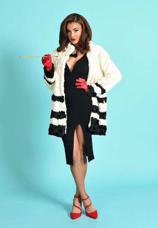 feeling fabulous and forbidding cruella deville halloween costume idea - Cruella Deville Halloween Costume Ideas