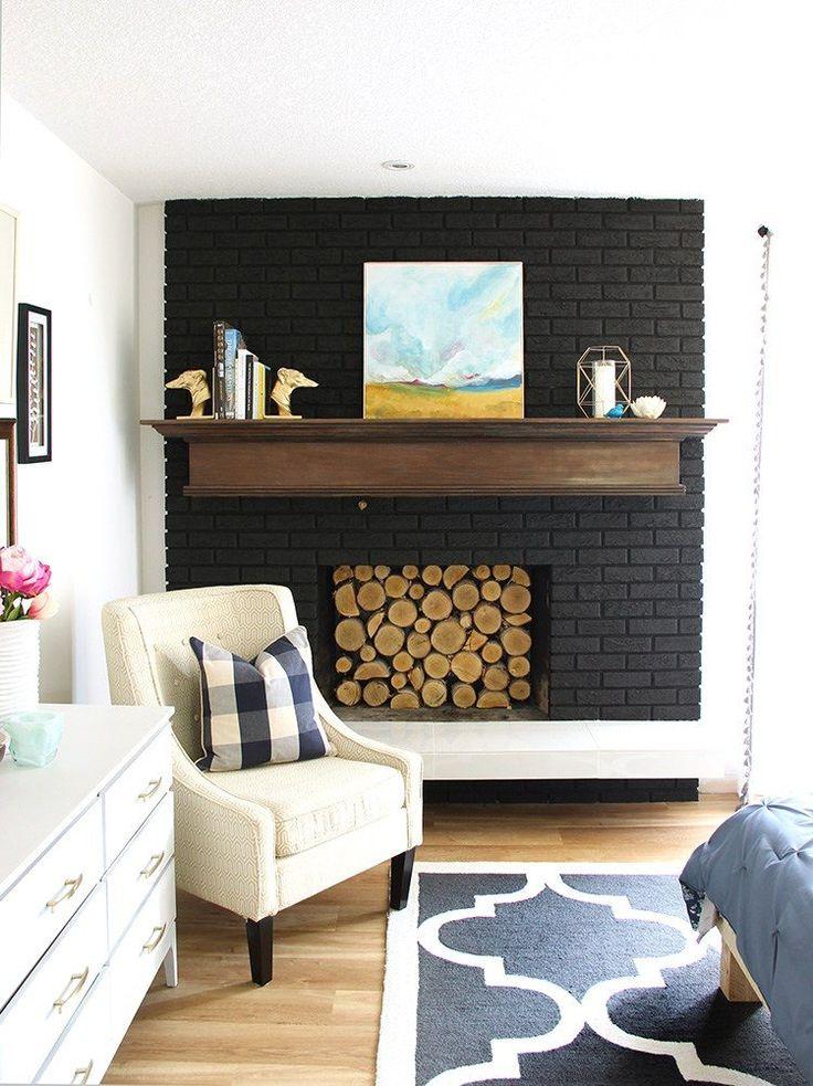 Die besten 25+ Ziegelkamin streichen Ideen auf Pinterest Led - wohnzimmer wände streichen