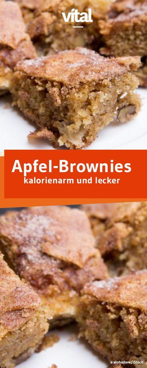 Super saftig und leicht sind die Apfel-Brownies mit gerade einmal 114 kcal pro Stück.
