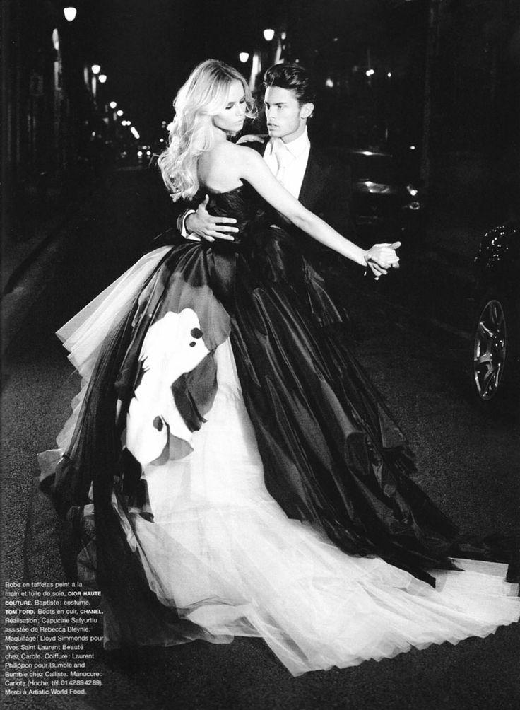 Natasha Poly &Baptiste GiabiconibyKarl Lagerfeld for Numéro