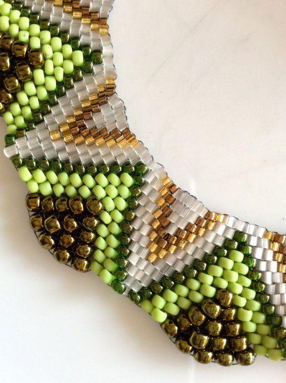 Flat Cellini Spiral. Peyote Stitch Necklace. Seed by momsjewellery
