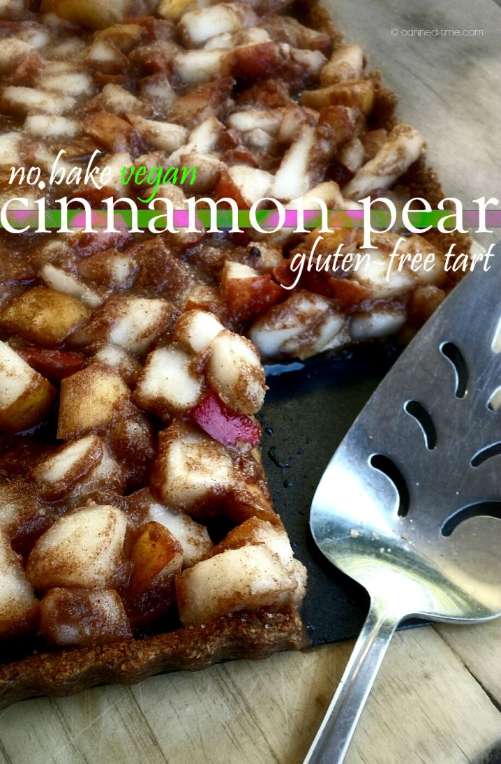 Salted Cinnamon Pear Tart - Gluten-free, Vegan with Raw Options