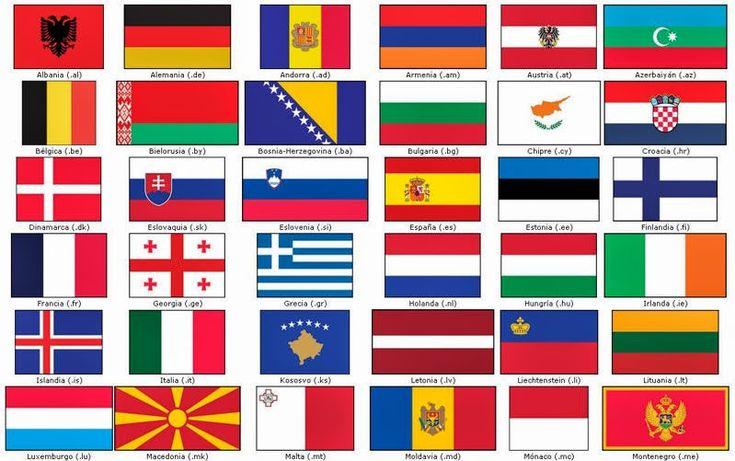 Vocabulario en imágenes. Maestra de Infantil y Primaria.: Banderas de Europa