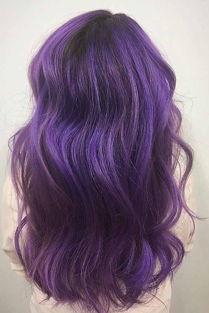 Dark purple hair and everything you need you need to know you can find here. Discover fresh ideas and useful tips. #purplehair #darkpurple #haircolor