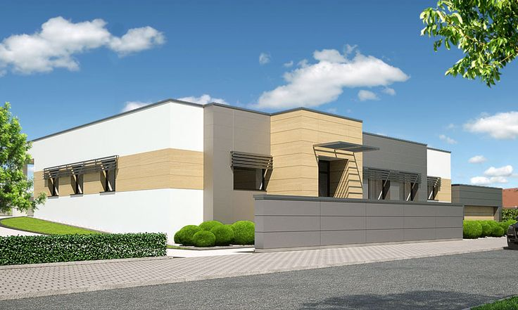 Návrh fasády a exteriéru domu