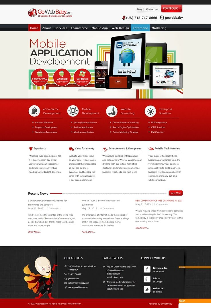 Web Design by GoWebBaby, via Sortfolio