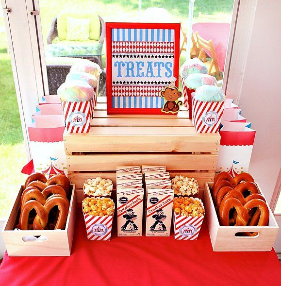circus treats for a first birthday party