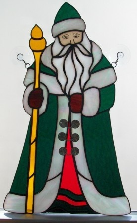 54 Best Images About Stained Glass Santa S On Pinterest