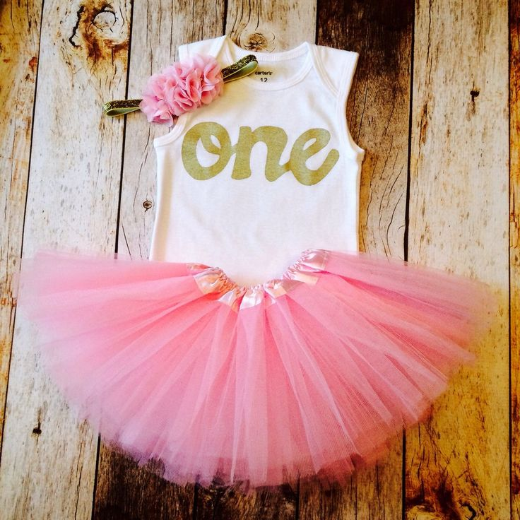 Petal pink tutu with tank top gold glitter one onesie- girls 1st Birthday outfit Valentine's Day girls first birthday outfit.