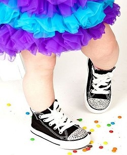 Bling Converse | Rhinestone Baby & Toddler Chuck Taylor Shoes
