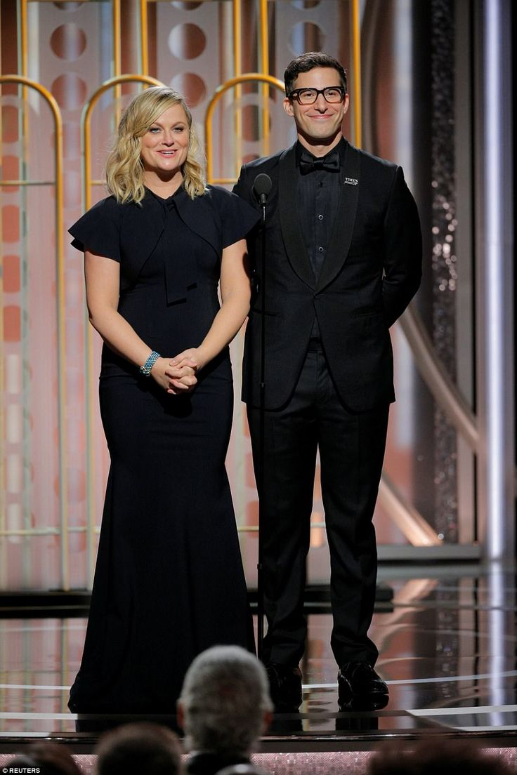Hilarious: Saturday Night Live alums Amy Poehler and Andy Samberg hit the stage together...