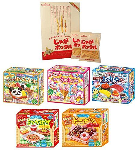 Japanese Potato Snack JagaPokkuru  Assortment of 5 Kracie Popin Cookin  Happy Kitchen kits >>> To view further for this item, visit the image link.Note:It is affiliate link to Amazon.