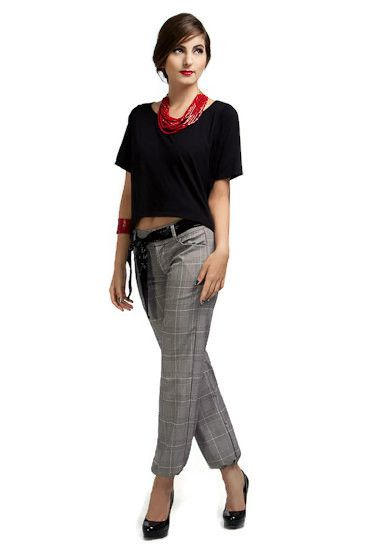 Not just any tartan pants. We made this a lot more interesting with a puffed up effect at the ends. Transforming an otherwise simple loose fit pants into our best selling separate.  It is versatile and fun. Perfect for a fun weekend outing or as part of a work attire. Just try the different combo, you'll be pleasantly surprised. Available on Amazon US: www.amazon.com/shops/allabout8