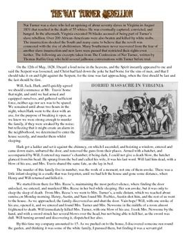 Student Success Essay Fantastic Primary Source Worksheet On Nat Turners Slave Rebellion Very  Vivid Script Ions Of Exactly Drought Essay also Essay On Egypt  Best Apush Images On Pinterest  History Civil Wars And Teaching  An Essay On Advertisement