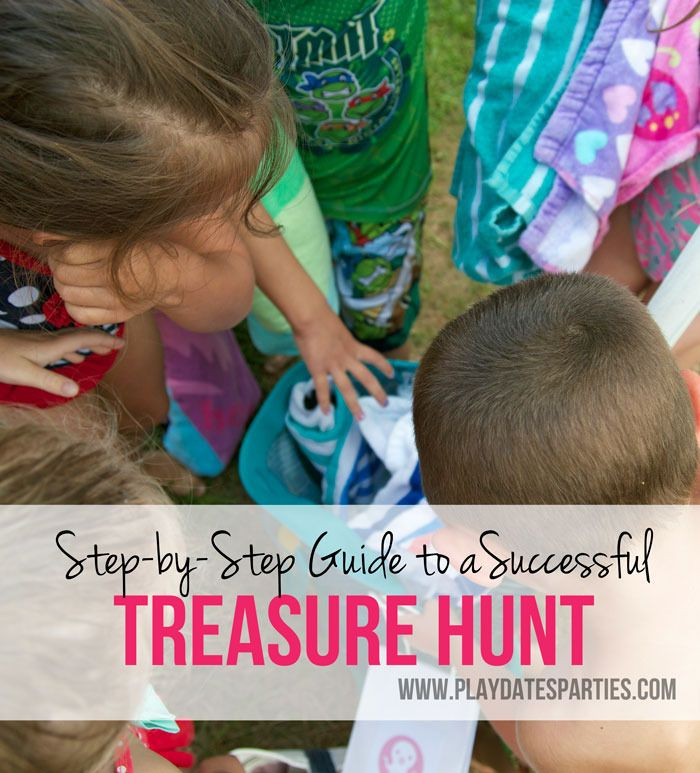 Step-by-Step Guide to a Successful Treasure Hunt: Scavenger hunts and treasure hunts take time and preparation, but are are a fun way to entertain at a kids party. Learn the difference between the two and the steps to make sure your treasure hunt is successful http://playdatesparties.com/2015/06/step-by-step-guide-to-successfu.html