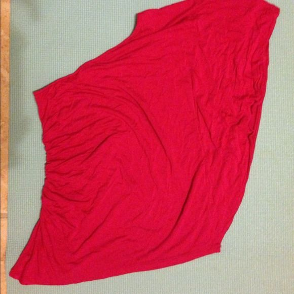 Off-the-shoulder Hot Pink Top Hot Pink Tops