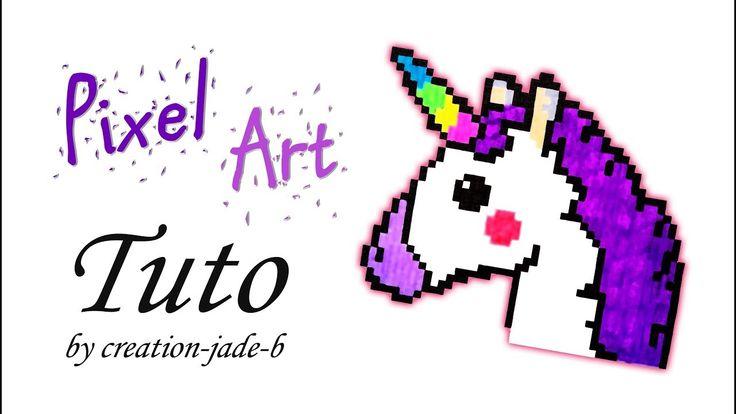 Tuto Pixel Art - Tête de Licorne/Unicorn ! (H:37 x L:44)